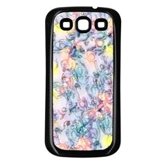 Softly Floral C Samsung Galaxy S3 Back Case (Black)