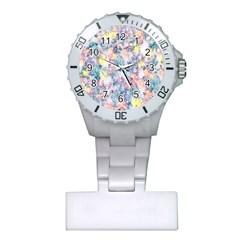 Softly Floral C Plastic Nurses Watch