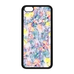 Softly Floral C Apple iPhone 5C Seamless Case (Black)