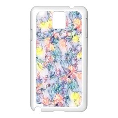 Softly Floral C Samsung Galaxy Note 3 N9005 Case (White)