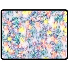 Softly Floral C Double Sided Fleece Blanket (Large)