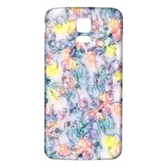 Softly Floral C Samsung Galaxy S5 Back Case (White)