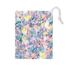 Softly Floral C Drawstring Pouches (Large)