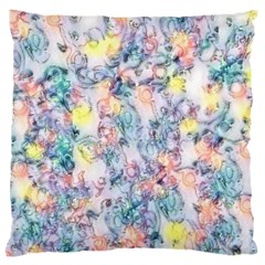 Softly Floral C Large Flano Cushion Case (Two Sides)