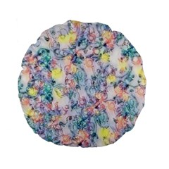 Softly Floral C Standard 15  Premium Flano Round Cushions