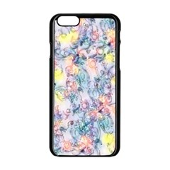 Softly Floral C Apple iPhone 6/6S Black Enamel Case