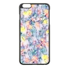Softly Floral C Apple iPhone 6 Plus/6S Plus Black Enamel Case