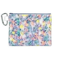 Softly Floral C Canvas Cosmetic Bag (XL)