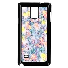 Softly Floral C Samsung Galaxy Note 4 Case (Black)