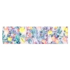 Softly Floral C Satin Scarf (Oblong)