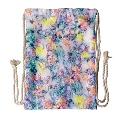 Softly Floral C Drawstring Bag (Large)