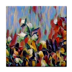 Abstractionism Spring Flowers Tile Coasters
