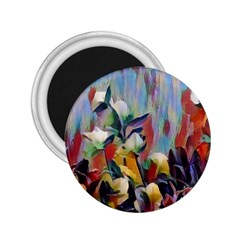 Abstractionism Spring Flowers 2.25  Magnets