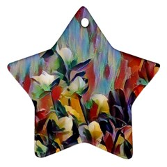 Abstractionism Spring Flowers Ornament (Star)