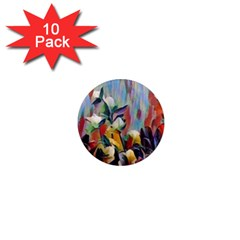 Abstractionism Spring Flowers 1  Mini Magnet (10 pack)