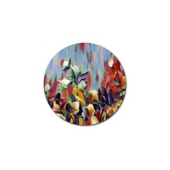 Abstractionism Spring Flowers Golf Ball Marker (4 pack)