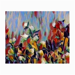 Abstractionism Spring Flowers Small Glasses Cloth