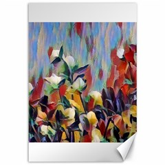 Abstractionism Spring Flowers Canvas 12  x 18