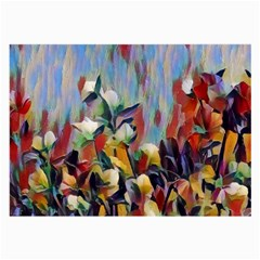 Abstractionism Spring Flowers Large Glasses Cloth (2-Side)