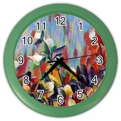 Abstractionism Spring Flowers Color Wall Clocks