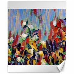 Abstractionism Spring Flowers Canvas 11  x 14