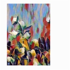 Abstractionism Spring Flowers Large Garden Flag (Two Sides)