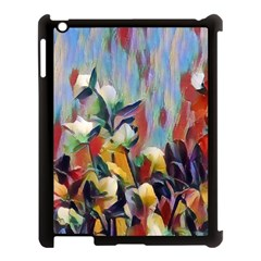 Abstractionism Spring Flowers Apple iPad 3/4 Case (Black)