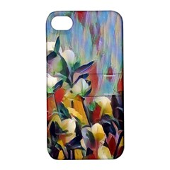 Abstractionism Spring Flowers Apple iPhone 4/4S Hardshell Case with Stand