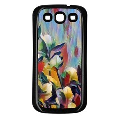 Abstractionism Spring Flowers Samsung Galaxy S3 Back Case (Black)