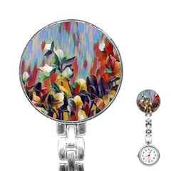 Abstractionism Spring Flowers Stainless Steel Nurses Watch