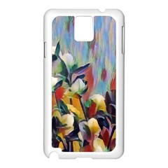 Abstractionism Spring Flowers Samsung Galaxy Note 3 N9005 Case (White)