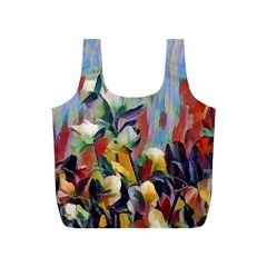 Abstractionism Spring Flowers Full Print Recycle Bags (S)
