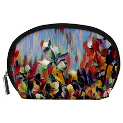 Abstractionism Spring Flowers Accessory Pouches (Large)