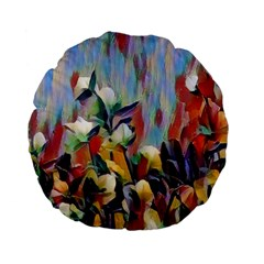 Abstractionism Spring Flowers Standard 15  Premium Flano Round Cushions