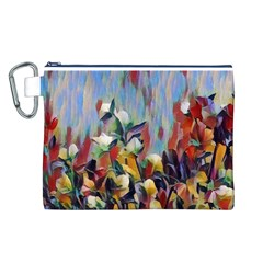 Abstractionism Spring Flowers Canvas Cosmetic Bag (L)