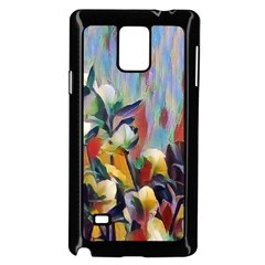 Abstractionism Spring Flowers Samsung Galaxy Note 4 Case (Black)
