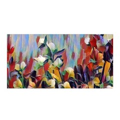 Abstractionism Spring Flowers Satin Wrap