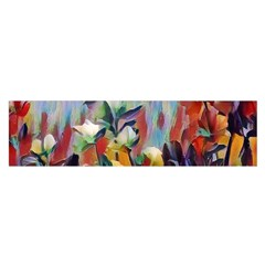 Abstractionism Spring Flowers Satin Scarf (Oblong)