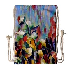 Abstractionism Spring Flowers Drawstring Bag (Large)