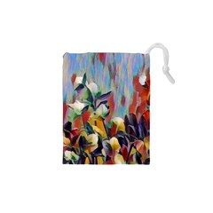 Abstractionism Spring Flowers Drawstring Pouches (XS)