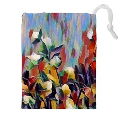 Abstractionism Spring Flowers Drawstring Pouches (XXL)