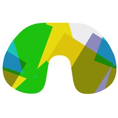 Green yellow shapes        Travel Neck Pillow