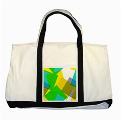 Green yellow shapes        Two Tone Tote Bag