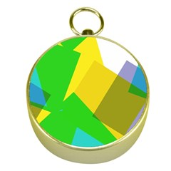 Green yellow shapes        Gold Compass