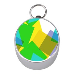 Green yellow shapes        Silver Compass (Mini)