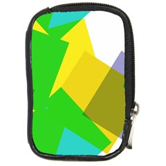 Green yellow shapes        Compact Camera Leather Case