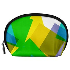 Green yellow shapes        Accessory Pouch