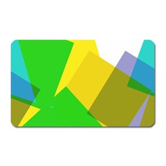 Green yellow shapes        Magnet (Rectangular)
