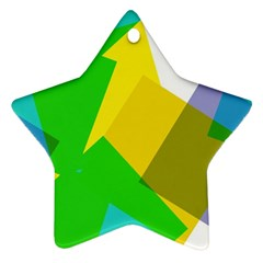 Green yellow shapes        Ornament (Star)
