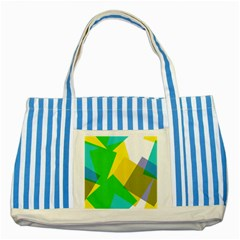 Green yellow shapes        Striped Blue Tote Bag